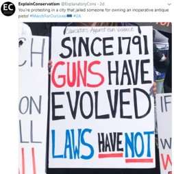 Gun laws have not evolved
