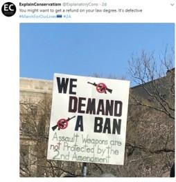 We demand a ban